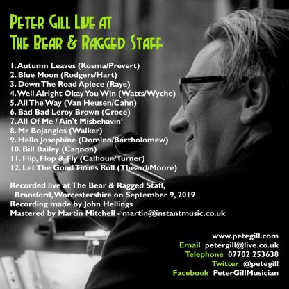 Peter Gill Live at the Bear & Ragged Staff