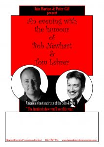 An Evening with the humour of Bob Newhart and Tom Lehrer